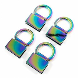 Edge Connector Strap Anchors in Iridescent Rainbow (4 Pack)