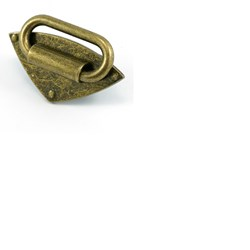 Diamond Strap Anchors Antique Brass 4ct