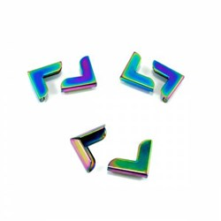 Corners for Bags and Wallets 3/4in in Iridescent Rainbow