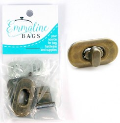 Small Turn Lock - Antique Brass (1 per pack)