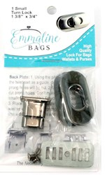 Small Turn Lock - Gun Metal (1 per pack)