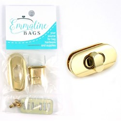 Small Turn Lock - Gold (1 per pack)