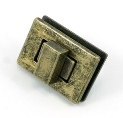 Rectangle Turn Lock -Antique Brass  (1 per pack)