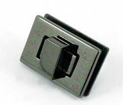 Rectangle Turn Lock -Gun Metal (1 per pack)