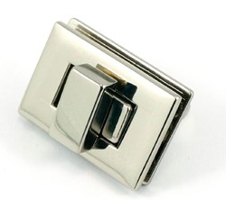 Rectangle Turn Lock -Nickel (1 per pack)