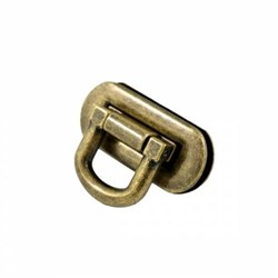 Oval Flip Lock - Antique Brass (1 per pack)