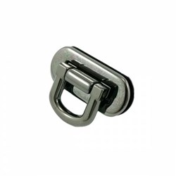 Oval Flip Lock -Gunmetal (1 per pack)