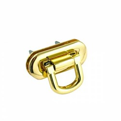 Oval Flip Lock -Gold (1 per pack)