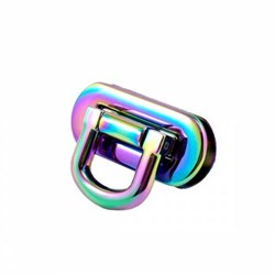 Oval Flip Lock -Iridiscent Rainbow (1 per pack)