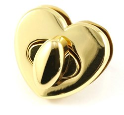 Heart Shaped Bag Lock -Gold (1 per pack)