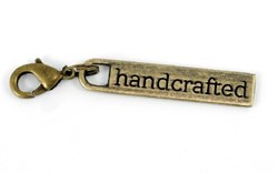 "Zipper Pull ""handcrafted"" in Antique Brass"