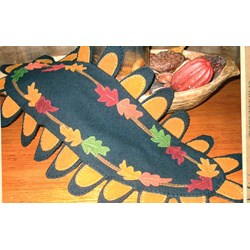 Falling Leaves Topper Penny Rug Wool Pattern