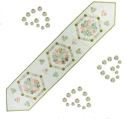 Vintage Find!   Hexagon Hearts Bedrunner/Table Topper Pattern - English Paper Piecing by Sue Daley