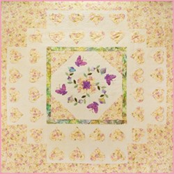 Vintage Find!   Lavender and Lace Applique Quilt  by Sue Daley