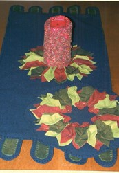 Puffed Up Holly Wool Runner & Candle Mat Pattern