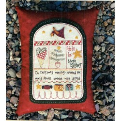 Christmas Morning Stitchery Project Pattern - Starter-Pack, Muslin & Button Pack - The Patchwork Angel