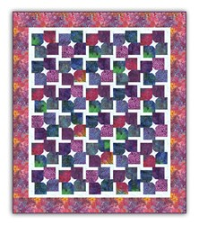 LAST ONE!  Twirls and Swirls Batik Full Size Quilt Kit