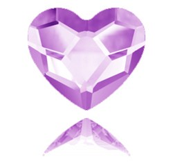 Swarovski 2808 Heart Hotfix <br>FUCHSIA HEART  6mm  #502