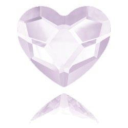 Retired Color!Swarovski 2808 Heart Hotfix ROSALINE HEART  6mm  #508