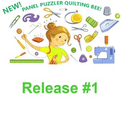 Release #1!  Panel Puzzler  Quilting Bee 2020