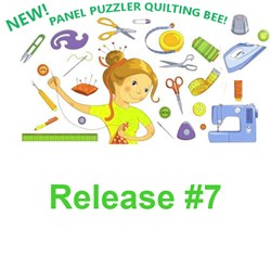 Release #7!  Panel Puzzler  Quilting Bee 2020