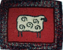 Curly Sheep Hooked Rug Kit