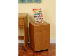Suzi Storage Sidekick Cabinet by Arrow - Oak