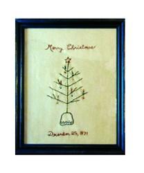 Primitive Christmas Tree Sampler