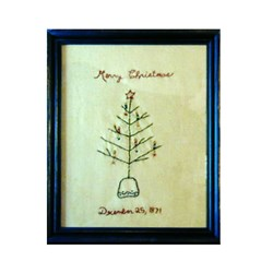 Primitive Christmas Tree Sampler