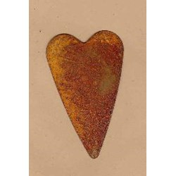 Vintage Find!  Rusty Tin Hearts - 3 Inch - Set of 2