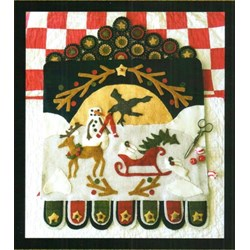 Heaven and Nature Sing Wool Applique Wall Hanging by 1894 Cottonwood House