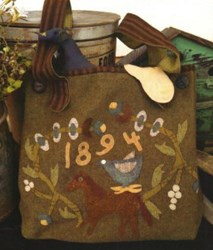Summer Meadow Wool Applique Bag by 1894 Cottonwood House