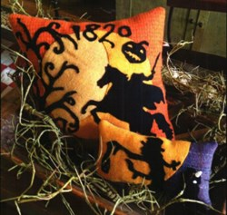 Sleepy Hollow Wool Applique Pillows by 1894 Cottonwood House