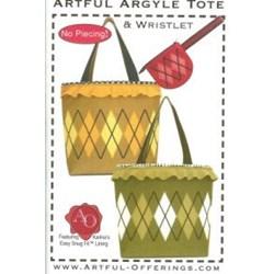 Artful Argyle Tote - No Piecing!