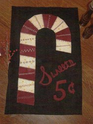 Sweets for Sale Wool Holiday Wall Hanging Pattern by Cut Loose Press