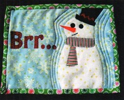 Snowman Mini Quilt Pattern by Cut Loose Press