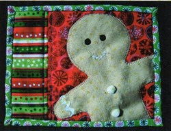 Gingerbread Man Mini Quilt Pattern by Cut Loose Press