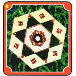 Hybrid Hexi-Star Tree Skirt Quilt Pattern by Cut Loose Press