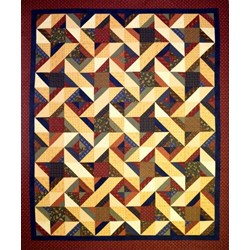 Hot Cross Stars Quilt Pattern by Cut Loose Press