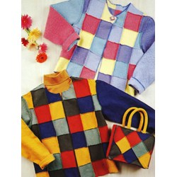 Vintage Find!  Block Party Jacket & Purse Pattern by Kathy Fernholz for  Indygo Junction, Inc.