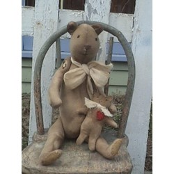 Vintage Find!  Teddy & His Friend Lovey Pattern by Lowell Country Gifts