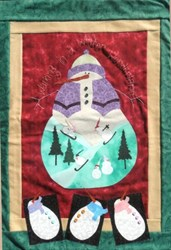 Winter Wonderland Wall Hanging Pattern by Pumpkin Berries Stitchery