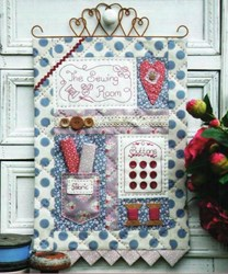 The Sewing Room Stitchery & Applique Wallhanging Pattern by Sally Giblin