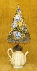 Vintage Teapot Topiary Pattern