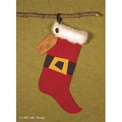 Santa's Ho Ho Ho Stocking Pattern
