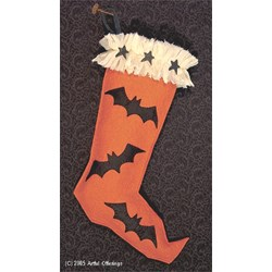 Vintage Halloween Stocking  Pattern