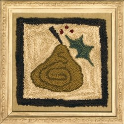 Holiday Pear Punchneedle Pattern