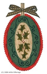 Holly Garland Punchneedle Pattern