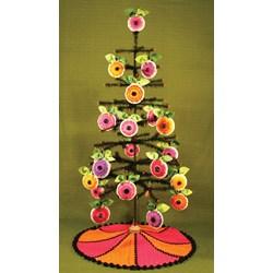 Vibrant Spring Daisy Ornaments & Tree Skirt Pattern