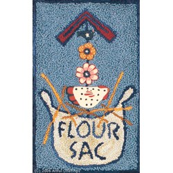 Flour Sac Punchneedle Pattern with Buttons